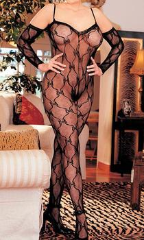 Langærmet catsuit