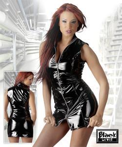 Lak kjole med lynlås